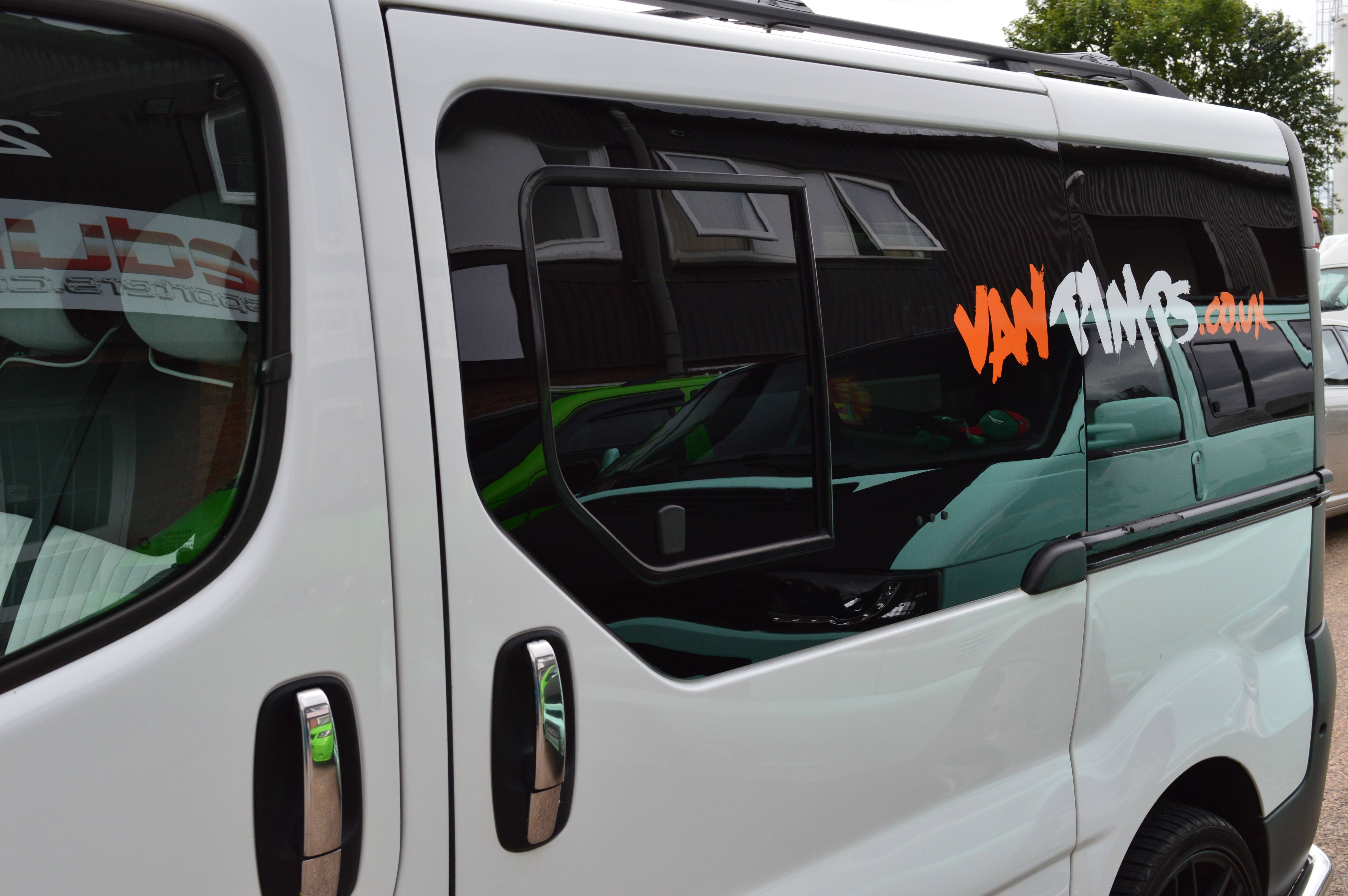 Vauxhall Vivaro Pair Of Privacy Tinted Opening Windows For
