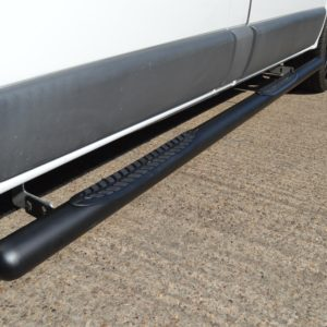Renault Trafic Matt Black Vulcan Side Steps With Footplates (LWB L2)