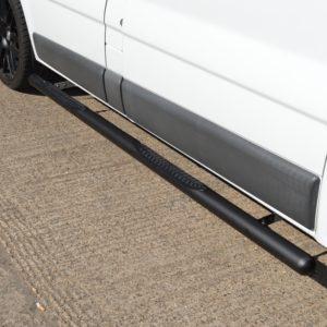 Renault Trafic Matt Black Vulcan Side Steps With Footplates (SWB L1)