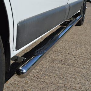 Vauxhall Vivaro Stainless Steel Side Vulcan Steps With Footplates (LWB L2)