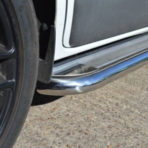 Transit Custom Apollo Stainless Steel Polished Side Steps (SWB L1)