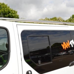 Renault Trafic Mirror Polished Stainless Steel Roof Rails SWB