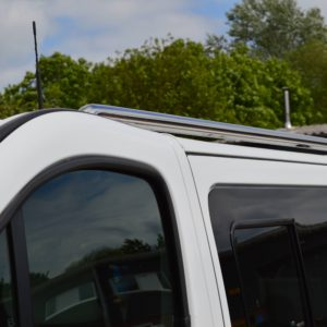 Renault Trafic Mirror Polished Stainless Steel Roof Rails LWB