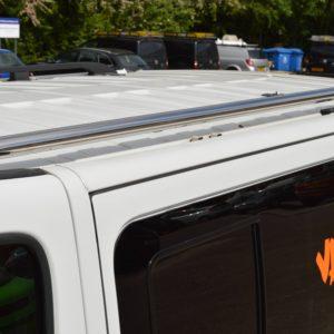 Nissan Primastar x82 Mirror Polished Stainless Steel Roof Bars LWB