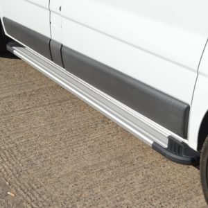 Vauxhall Vivaro Fox Running Boards / Side Steps - Aluminium (LWB L2)