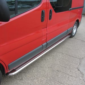 Renault Trafic Apollo Stainless Steel Polished Side Steps (SWB L1)