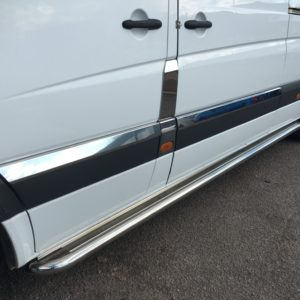 VW Crafter Stainless Steel Chrome Side Door Streamers (10 Piece) LWB