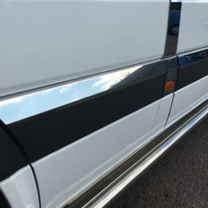VW Crafter Stainless Steel Chrome Side Door Streamers (10 Piece) MWB