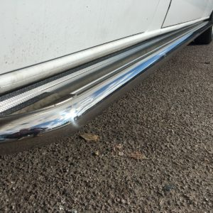 Mercedes Sprinter Apollo Stainless Steel Polished Side Steps (XLWB L4)