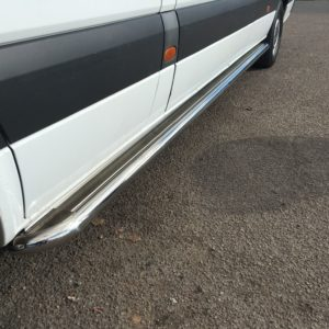 VW Crafter Apollo Stainless Steel Polished Side Steps (MWB L2)