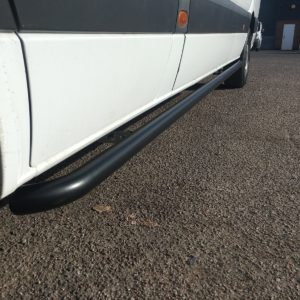 Volkswagen Crafter Matt Black Sportline Side Bars (L2 MWB)