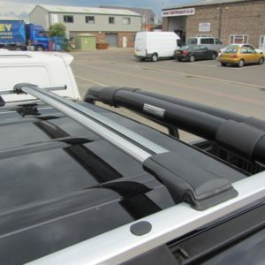 Vauxhall Vivaro Aluminium Wing Bars / Cross Bars (Pair with feet and fixings)