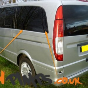 Mercedes Vito N/S/R Fixed Window in Privacy Tint SWB (Compact)
