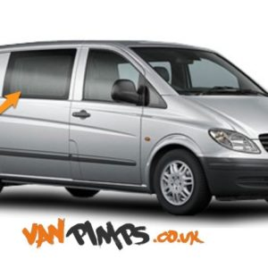 Mercedes Vito O/S/F Fixed Window in Privacy Tint (Fits All Wheelbases)