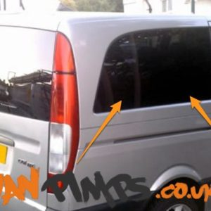 Mercedes Vito O/S/R Fixed Window in Privacy Tint LWB