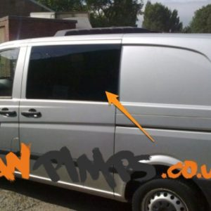 Mercedes Vito N/S/F Fixed Window in Privacy Tint (Fits All Wheelbases)