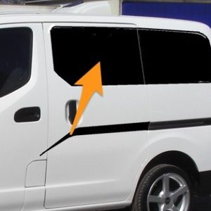 Nissan NV200 N/S/F Fixed Window in Privacy Tint