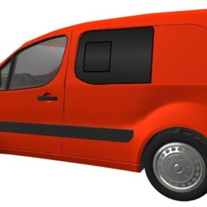 Citroen Berlingo N/S/F Opening Window in Privacy Tint