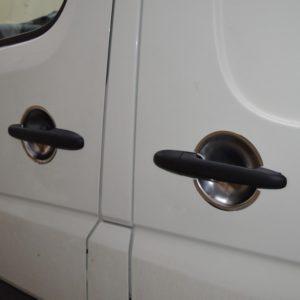 VW Crafter Stainless Steel Chrome Door Handle Surrounds (4 door)
