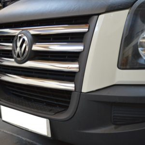 VW Crafter Chrome Front Grill Trim Set Covers Stainless Steel 5 Pcs