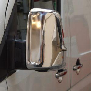 VW Crafter Stainless Steel Chrome Mirror Covers