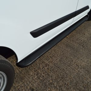 Transit Custom Running Boards / Side Steps - Black Aluminium (LWB L2)