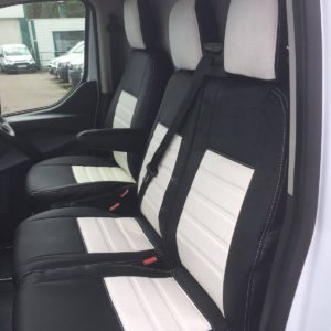 Ford Transit Custom Seat Covers - White