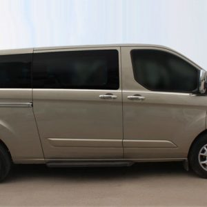Transit Custom Stainless Steel Chrome Window Trims (LWB)