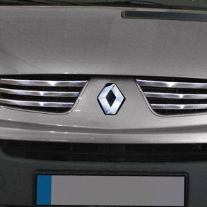 Renault Trafic Chrome Front Grill Accent Trim Set Covers Stainless Steel 6pc