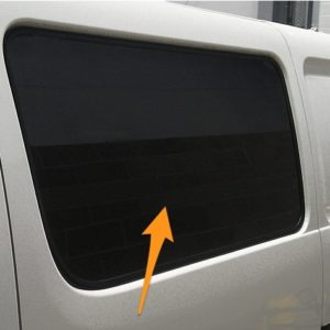 Toyota Hiace N/S/F Fixed Window in Privacy Tint