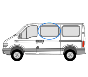 Vauxhall Movano 1997 > 2010 N/S/F Opener Window in Privacy Tint (SWB,MWB,LWB)