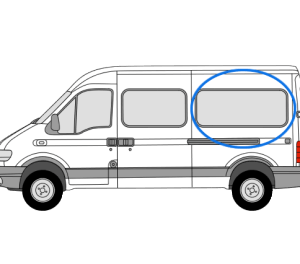 Renault Master 1997 > 2010 N/S/R Fixed Window in Privacy Tint (MWB)