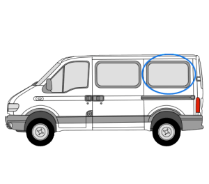 Renault Master 1997 > 2010 N/S/R Fixed Window in Privacy Tint (SWB/LWB)