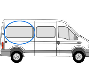 Renault Master 1997 > 2010 O/S/R Fixed Window in Privacy Tint (MWB)