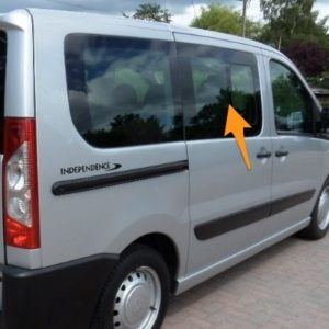 Toyota Proace O/S/F Fixed Window in Privacy Tint