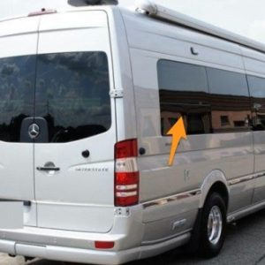 Volkswagen Crafter O/S/R Fixed Window In Privacy Tint LWB