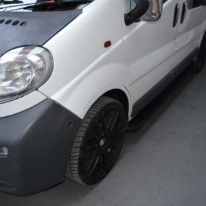 Renault Trafic Fox Running Boards / Side Steps - Black Aluminium (LWB L2)