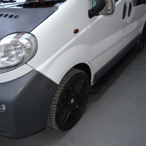 Nissan Primastar Fox Running Boards / Side Steps - Black Aluminium (SWB L1)