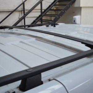 Nissan Primastar x82 2014> Black Aluminium Roof Rails SWB