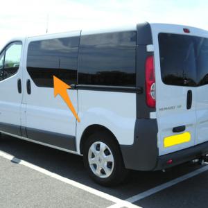 Vauxhall Vivaro N/S/F Fixed Window in Privacy Tint