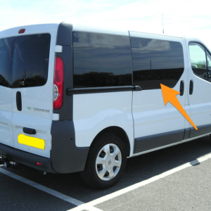 Vauxhall Vivaro O/S/F Fixed Window in Privacy Tint *FOR SLIDING DOOR - RARE*