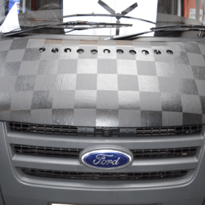 Ford Transit Chequered Bonnet Bra