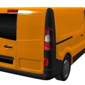 Vauxhall Vivaro 2014 X82 Nearside Back Door Glass In Privacy Tint
