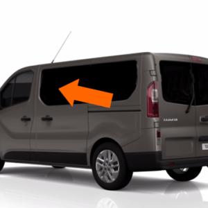 Vauxhall Vivaro 2014 X82 N/S/F Opening Window in Privacy Tint