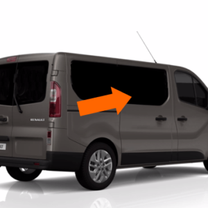 Vauxhall Vivaro 2014 X82 O/S/F Opening Window in Privacy Tint